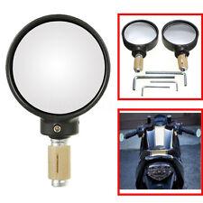 7/8'' 22mm Black Round Universal Motorcycle Motorbike Bar End Mirrors Rear View