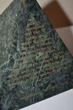 Academy Management Marble Pyramid Art Deco Business Machiavelli Prince Quote VTG