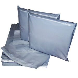 6.5x9' Strong Grey Mailing Post Poly Postage Bags Self Seal Cheap No Smell CS