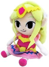 "NWT Sanei Legend of Zelda 8"" Princess Zelda Stuffed Plush Doll Toy Wind Waker"