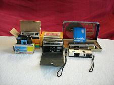 lot 5 appareils photos pocket kodak instamatic 100 & 192/micro 110/126F/carena