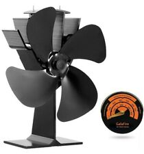 GALAFIRE Eco Heat Powered Wood Stove Fan for Gas Pellet Log Wood Stove FREE SHIP