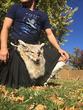 Full Masked Sporran Coyote scottish celtic bag for kilt and celtic highlander