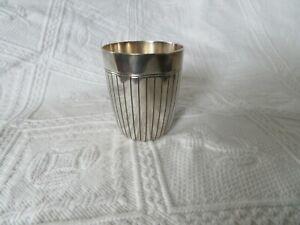 christofle timbale en métal argenté
