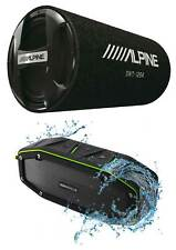 "Alpine Swt-12S4 1000w 12"" Subwoofer in Bass Tube 4-Ohm Sub+Bluetooth Speaker"