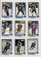 1986-87 OPC TORONTO MAPLE LEAFS Select from LIST NHL HOCKEY CARDS O-PEE-CHEE