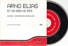 CD CARTONNE CARDSLEEVE COLLECTOR 1t ARNO ELIAS ET ON S'EN VA DE 1999
