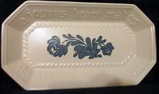 PFALTZGRAFF Yorktowne BREAD Plate TRAY Cobalt Stoneware Holiday Baking Serving