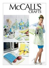 McCalls Crafts SEWING PATTERN M6479 Apron,Towel,Potholders & Bags