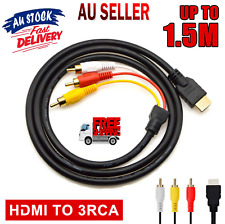 HDMI to RCA Cable Video Audio AV Component Converter Adapter Cable for HDTV AU