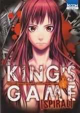 KING'S GAME SPIRAL tome 1 Kanazawa Kuriyama MANGA seinen en français