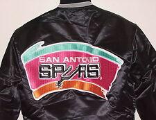 Vintage San Antonio SPURS STARTER Jacket SATIN Back Patch NWT NEW Old Stock MED