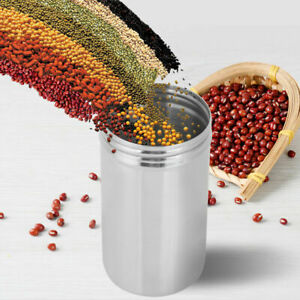 Stainless Steel Airtight Sealed Canister Coffee Tea Storage Jars Pot Container