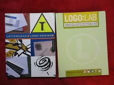 Lot of 2 Logo Letterhead Design & Logo:Lab Books 2002-2005