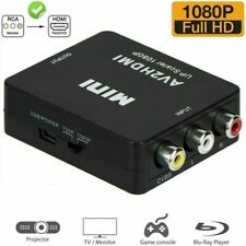 RCA to HDMI Female Converter Composite AV CVBS Video Adapter 1080P HDTV PC PS3