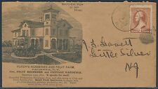 #210 ON PURDY'S NURSERIES & FRUIT FARM PALMYRA,NY ADVT COVER; ENCLOSURE BS6772