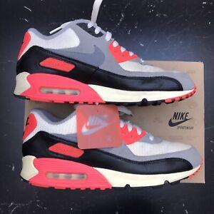 Nike Air Max 90 OG Infrared 2012 45 vntg vintage neon rot grau 3 Selten US 11