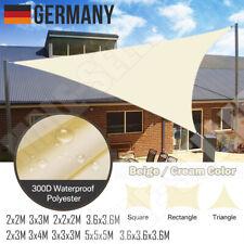 UV-Schutz Sonnensegel WASSERDICHT Sonnenschutz Windschutz Beige Creme Farbe DE