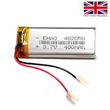 3.7V 400mAh LiPo 1S Polymer Rechargeable Battery: MP3 GPS Speaker - 402050