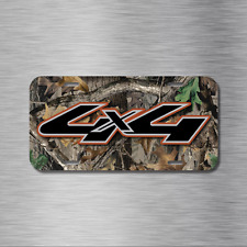 4X4 Vehicle License Plate Auto Car Offroad Diesel USA CAMO Truck Camouflage NEW!