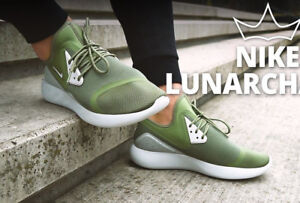 NIKE LUNARCHARGE ESSENTIAL Trainers Gym Casual  UK Size 11.5 (EUR 47) Palm Green