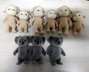 9pcs Sylvanian Families 6 Beige Sheep & 3 Grey Bear Figure Toy Doll Toy Gift