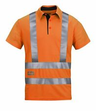 Snickers 2743 Hi-Vis AVS Polo Shirt, Class 2 Snickers SnickersDirect Orange