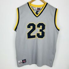 KARL KANI 23 GREY YELLOW HIP HOP BASKETBALL JERSEY VEST TOP DRESS M-L