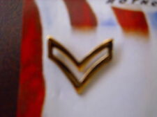 MILITARY GOLD  COLOR   RANK INSIGNIA  CORPORAL