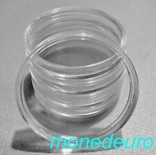 5 CAPSULAS PARA MONEDAS DE  23 mm. DIAMETRO ESPECIALES MONEDAS 1 EURO