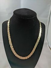 925 Italy Gold Plated Braided Chain