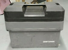 Vintage Craftsman Gray Plastic Stacking tool box Grey Toolbox Carry Tote trays
