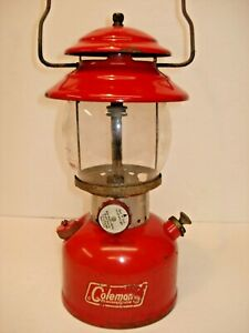 VINTAGE COLEMAN  220 A  LANTERN  WITH DATE  OF  10 - 68