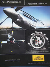 PUBLICITÉ PRESSE 2008 BREITLING MONTRE CHRONO-MATIC 49 AIR RACING - ADVERTISING