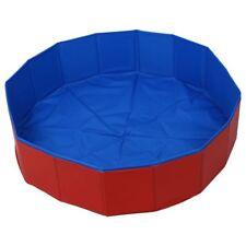 Piscina verano cama casa natacion perro mascota plegable Azul + Rojo L7Z5