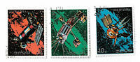 Korea postage stamps, 1976 Space Flight x 3