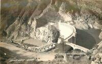 Arizona Birdseye View Roosevelt Dam 1940s RPPC Photo Postcard 52