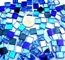 100 Mixed BLUE Mosaic MIRROR Tiles 1cm x 1cm Arts & Cafts