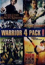 NEW MARTIAL ARTS 4 FILM DVD // KUNG FU MASTER, SANCTUARY, BRAVE & HIGH KICK GIRL