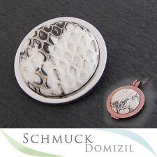 SALE - Quoins Scheibe / Münze Gr. L Snakeskin Creme QMOT-L-CR Schlangenleder