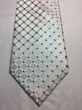 "JONES NEW YORK MENS TIE WHITE WITH BLUE ACCENTS 3.75"" X 60"""