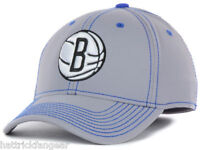Brooklyn Nets adidas M401Z NBA Basketball Team Stretch Fit Cap Hat Gray L/XL