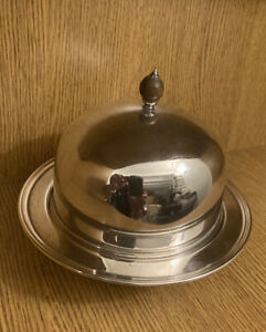 Antique Vintage Silver Plated EPNS Serving Dish With Lid By Barker Bros. England