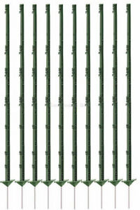 Weidezaunpfähle 156 cm ,Elektrozaun,neu,Weidezaunpfahl,Menge wählbar,grün