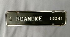 Roanoke VA License Plate 1966