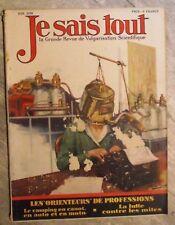 Magazine JE SAIS TOUT sciences populaire antique french mag 1928