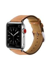 Apple Watch Band 38mm Genuine Leather iWatch Wrist Replacement Strap Brown 1 2 3