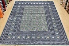 GREEN Silk LIKE Traditional Persian Design Machin Washable Rug Now 25% OFF RRP
