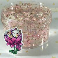 "SCENTED Clear SLIME ""ROMEOW"" THICK Pink Glitter Beads Cat Charm Scented 6 8 oz"