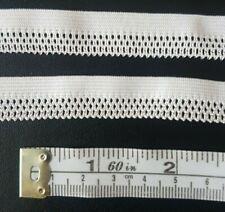 8.8m White Scollop Picot Edge Elastic